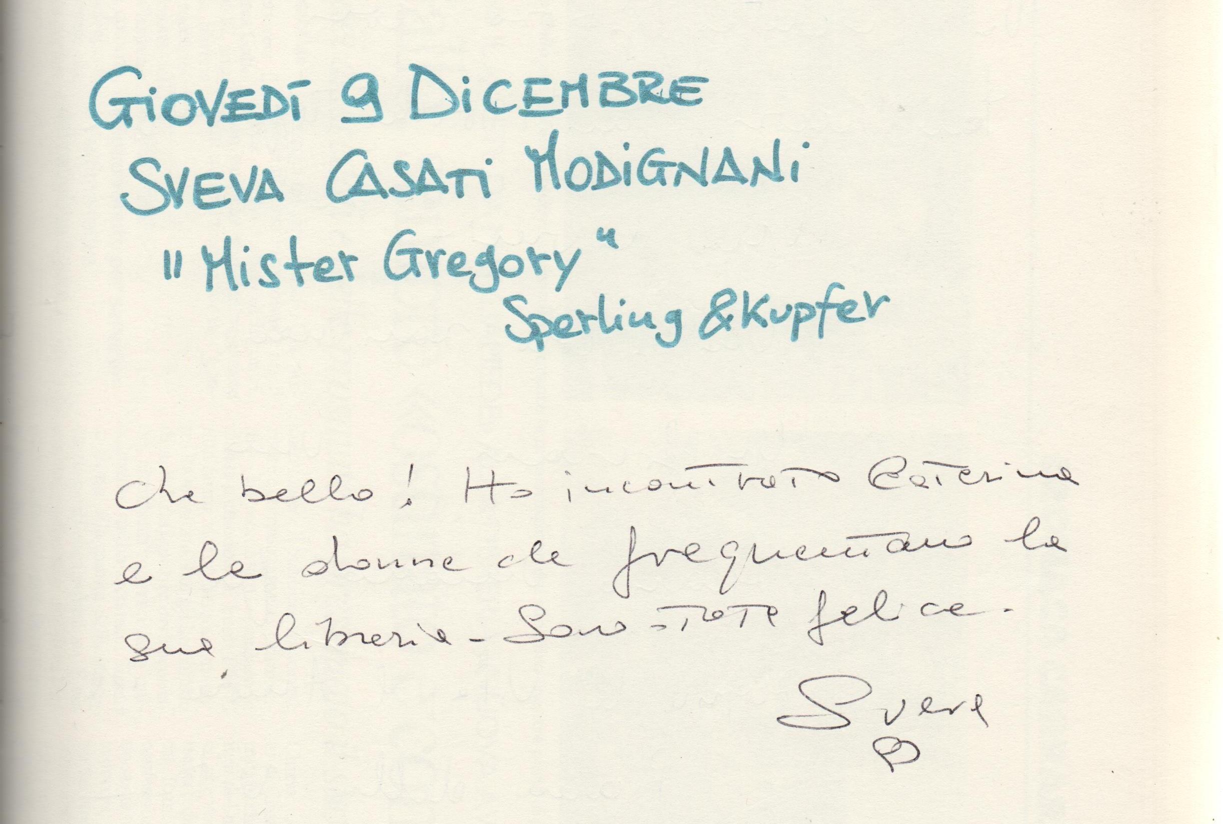 """""""Mister Gregory"""" di Sveva Casati Modignani"""