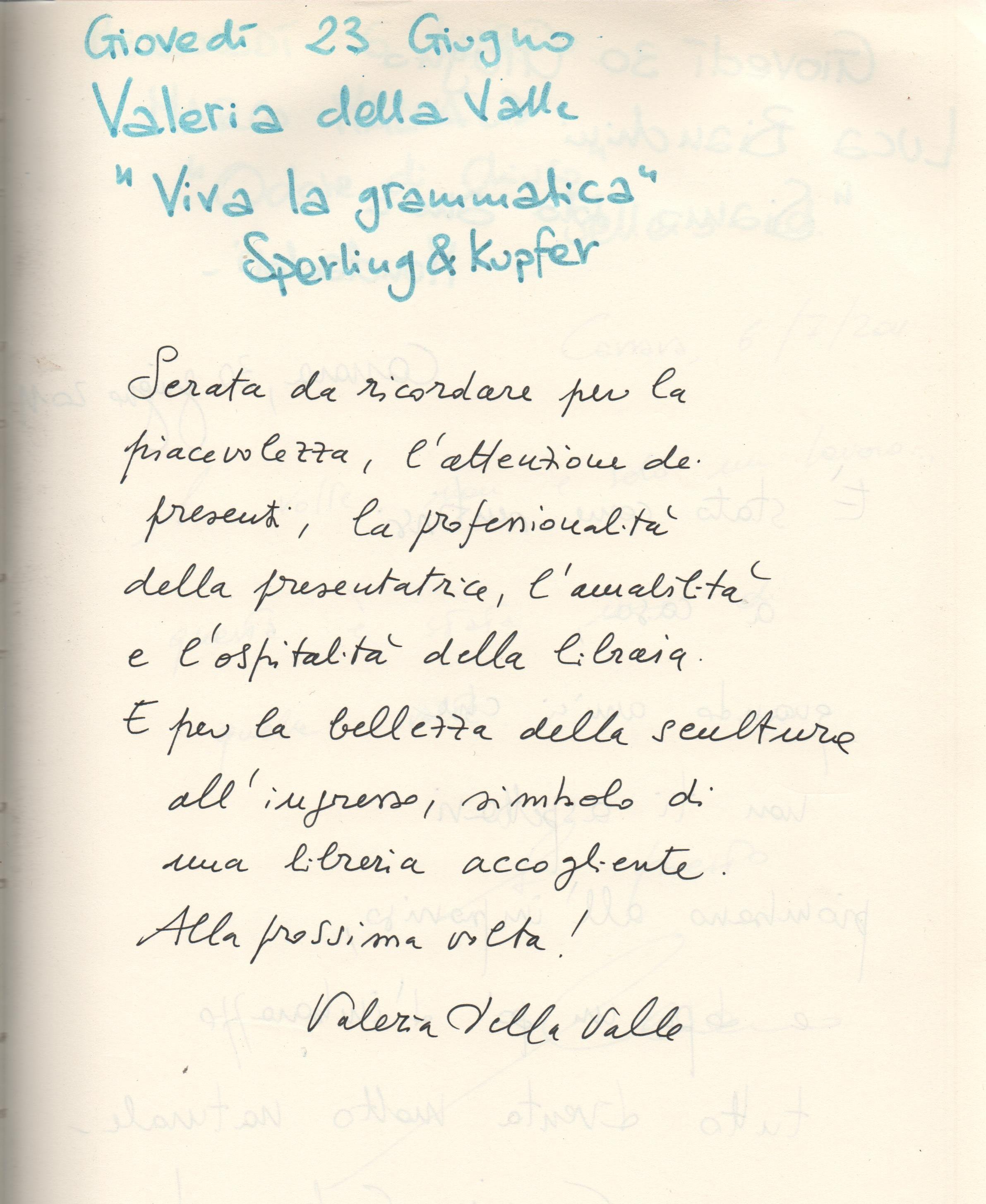 """""""viva la grammatica"""" di Valeria della Valle"""