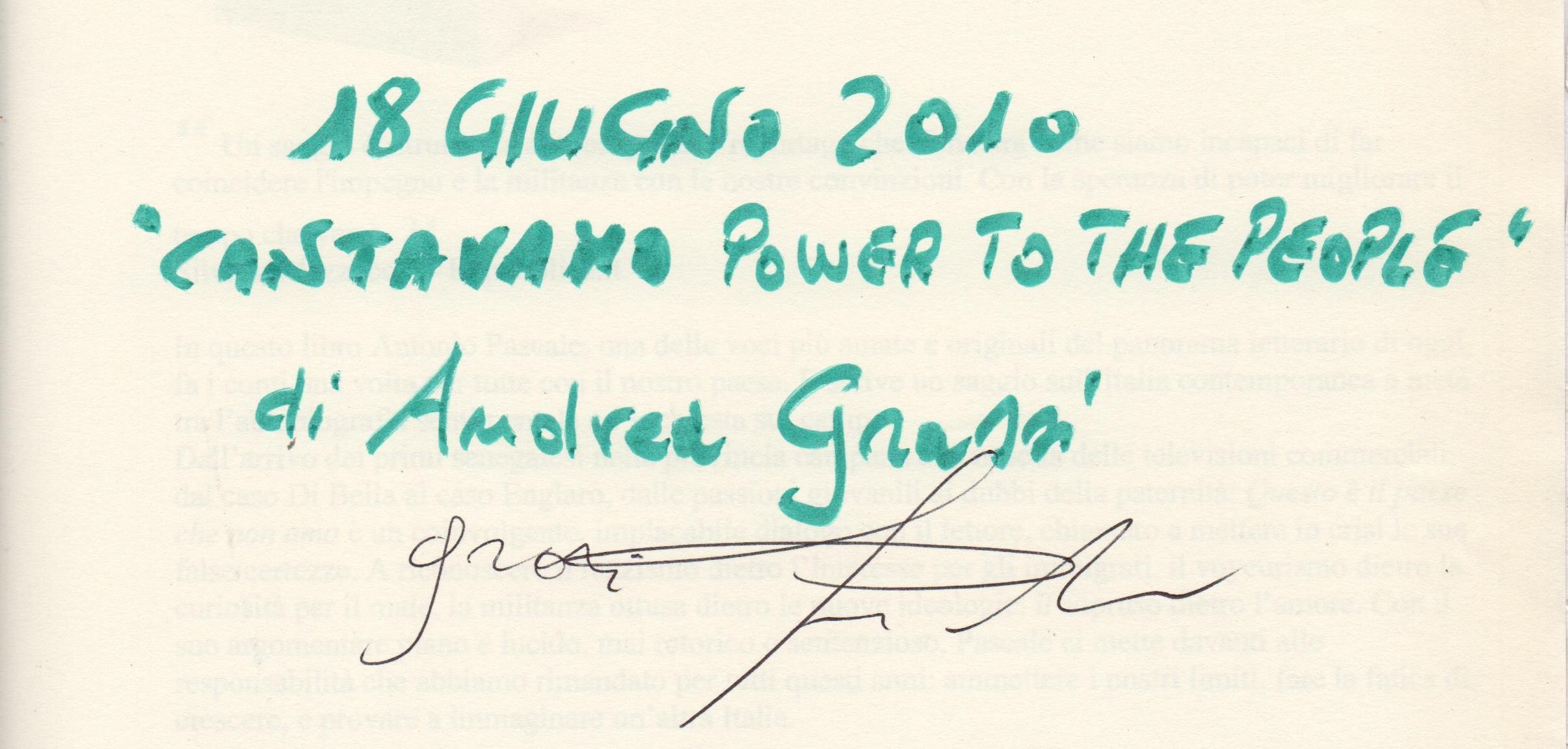 """""""Cantavamo power to the people"""" di Andrea Grassi"""