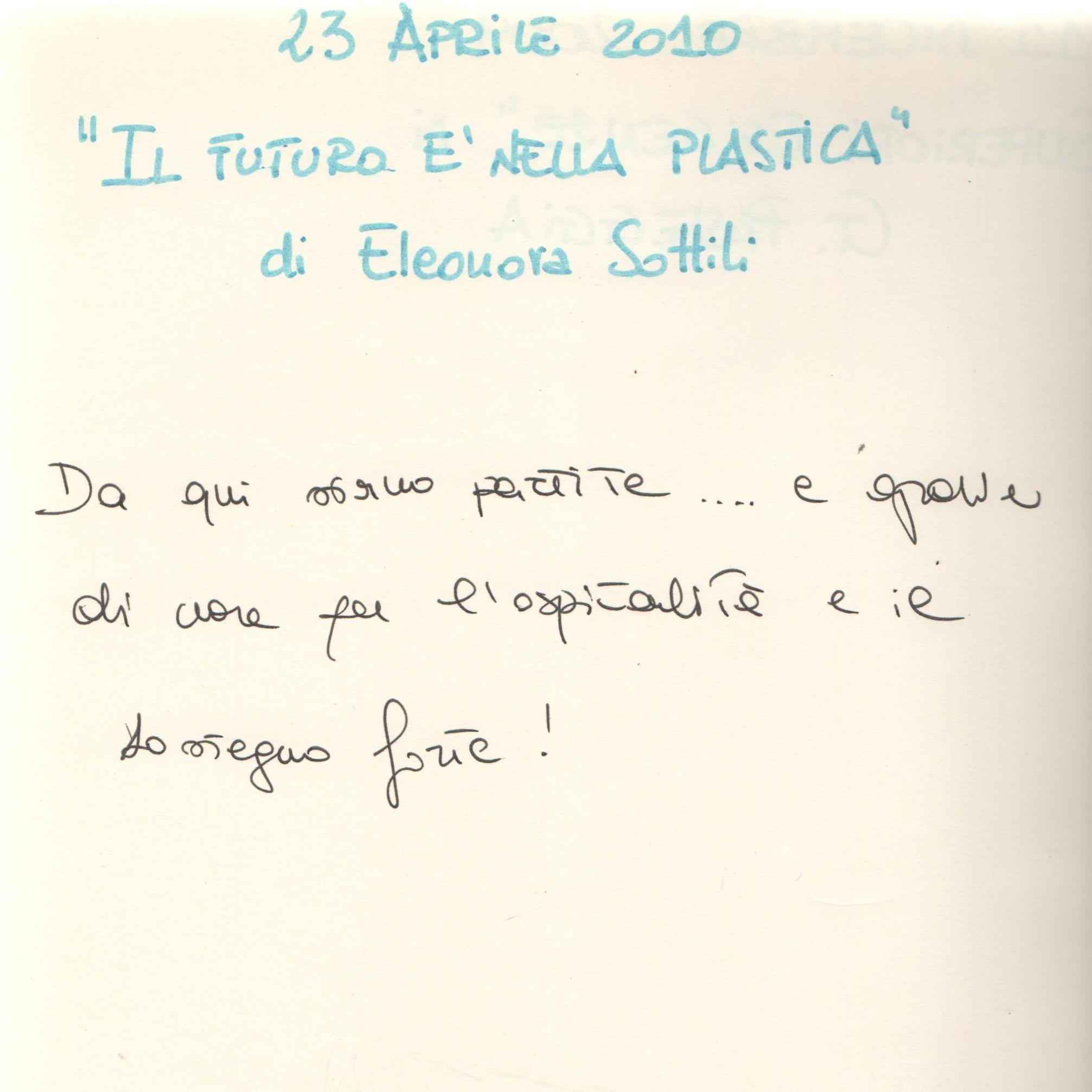 """""""Il futuro è nella plastica"""" di Eleonora Sottili"""