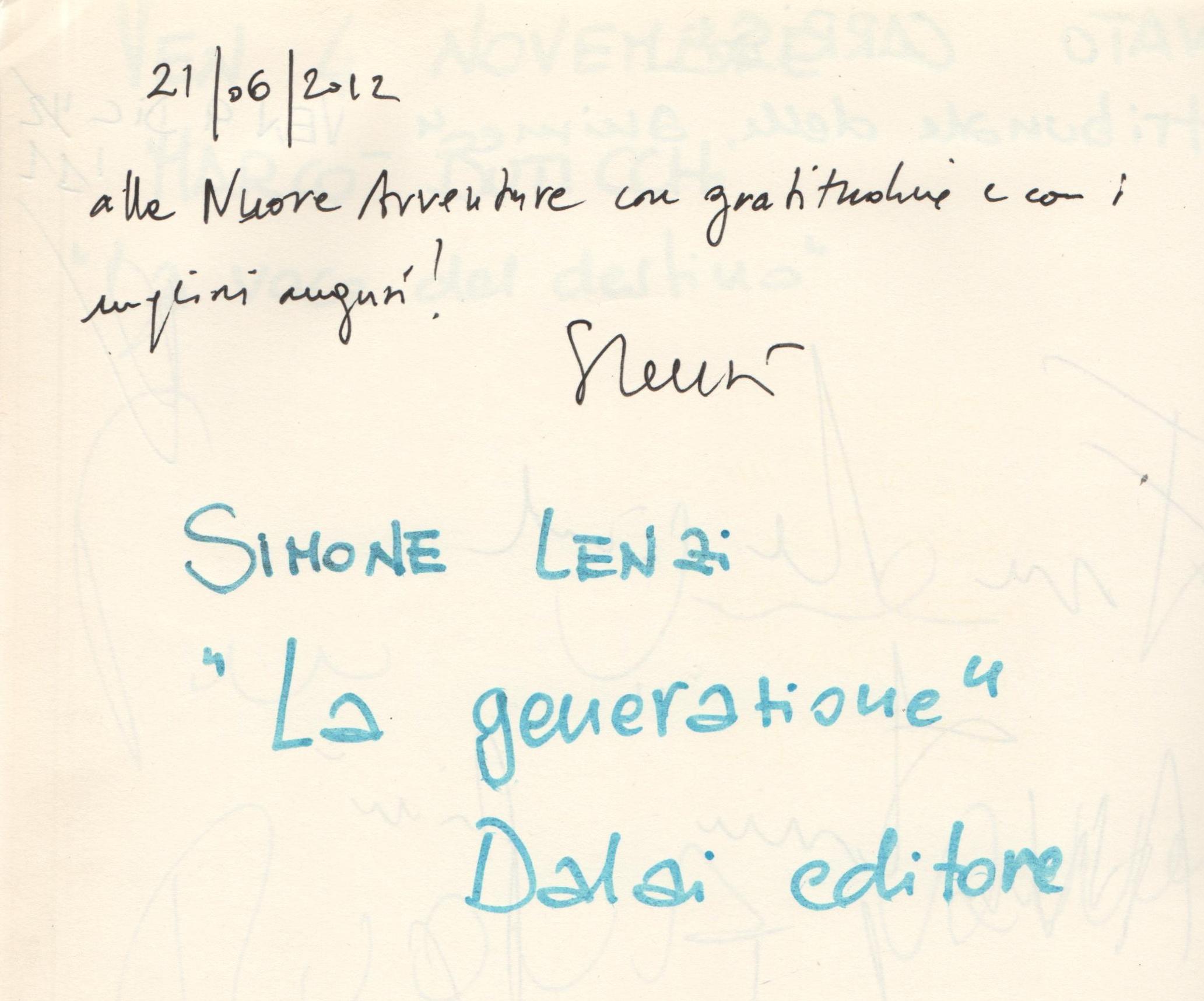 """""""La generazione"""" di Simone Lenzi"""