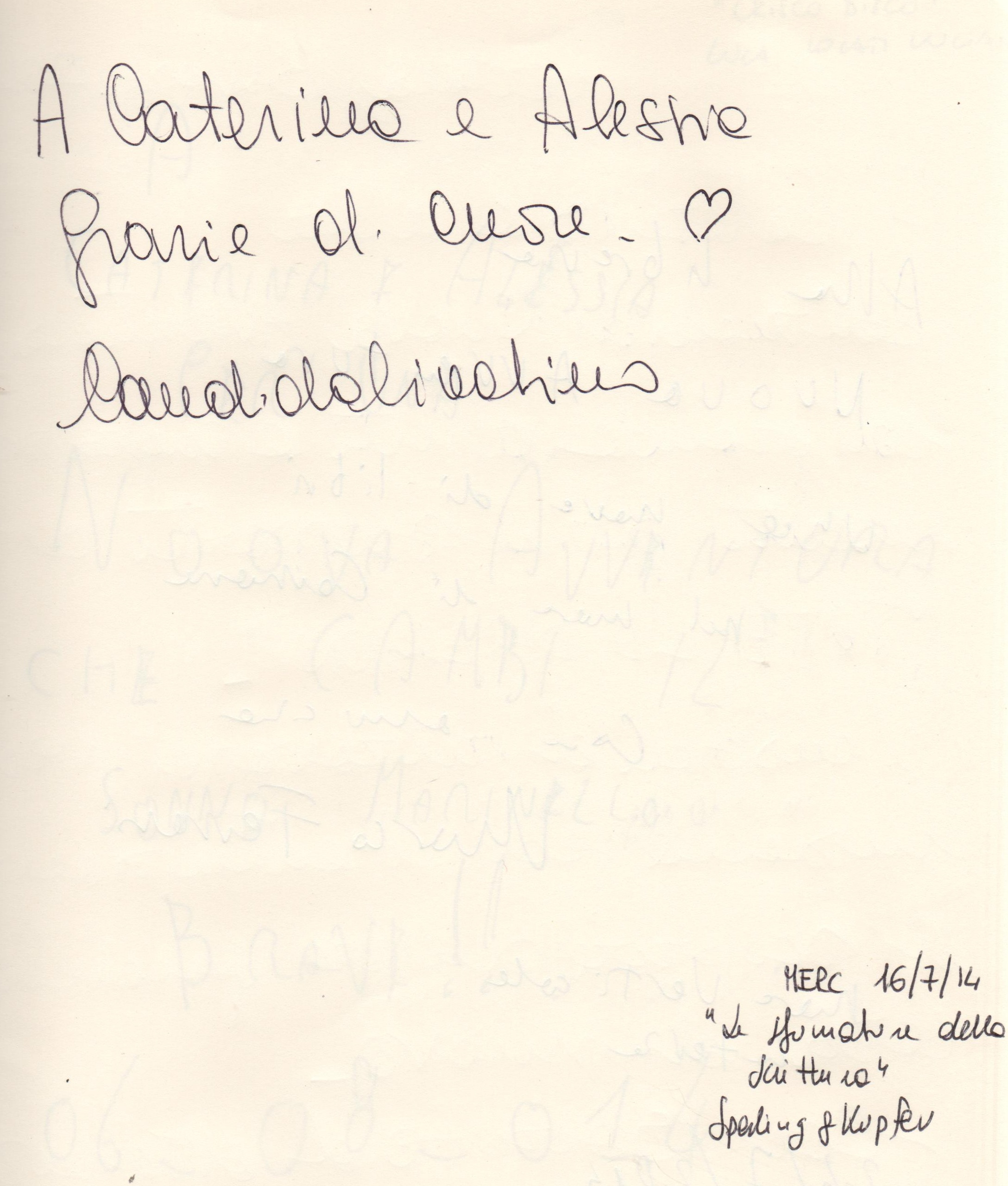 """""""Le sfumature della scrittura"""" di Candida Livatino"""