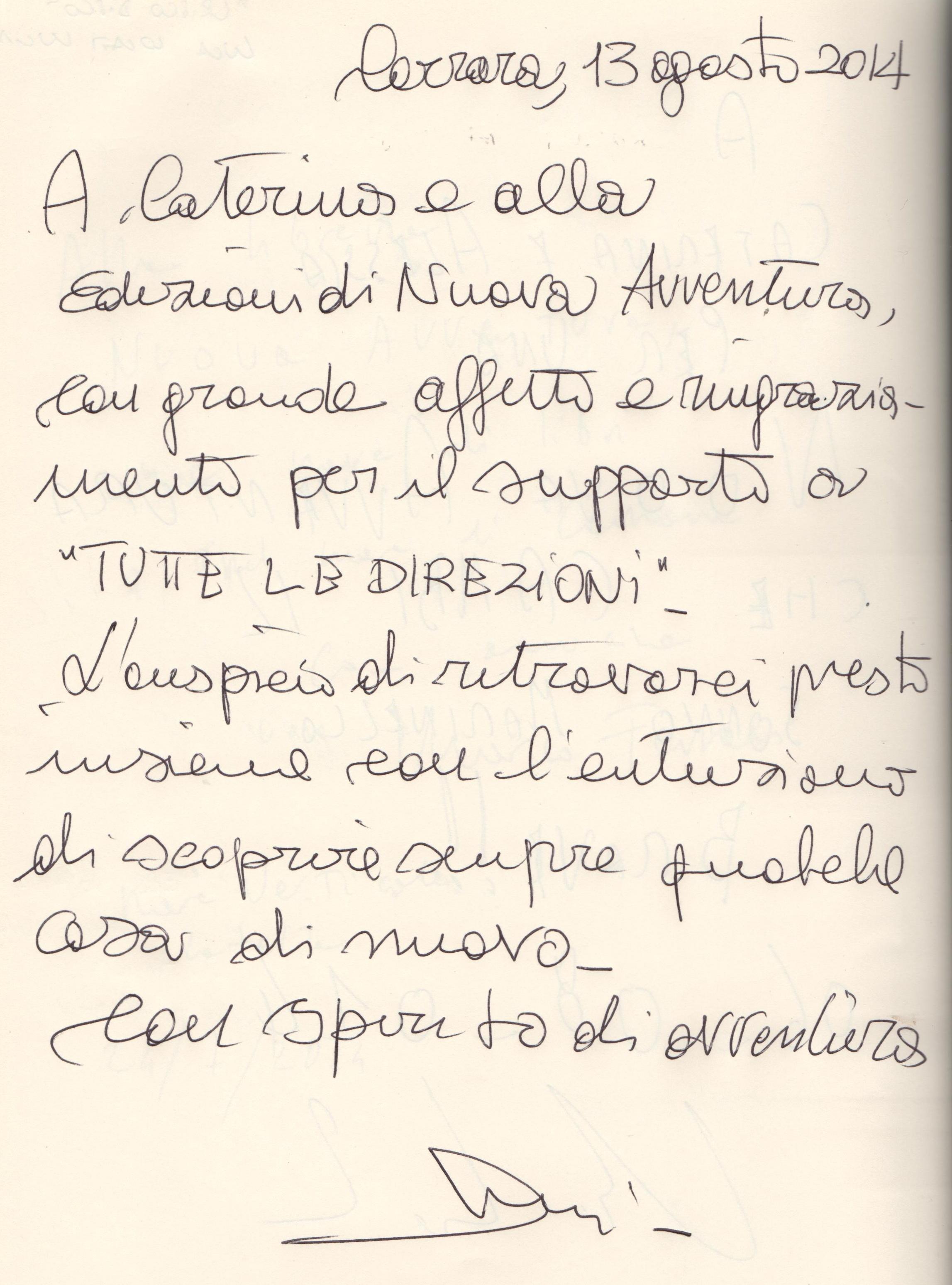 """""""Tutte le direzioni"""" di Nicola Lattanzi"""