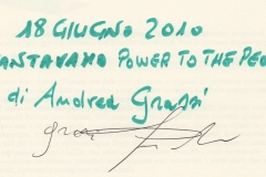 """Cantavamo power to the people"" di Andrea Grassi"